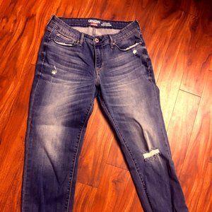 Levi Denizen Women's Jeans 14 slim cuffed distress